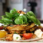 Grilled Zucchini Salad with Colorado Cherve, Tomato & Spiced Walnuts