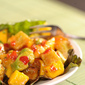 Meatless Monday: A Light, Cool, Refreshing Summer Salad – Crispy Tofu Cubes with Mango and Avocado in Sweet Chili Sauce