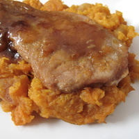 Image of Apricot Pork On Apricot Mash Recipe, Cook Eat Share