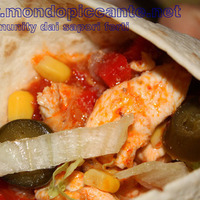 Image of Fajitas Piccanti Con Pollo E Peperoni Recipe, Cook Eat Share