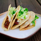 Saucy Tacos with Crispy Corn Shells