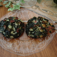 Portobello Mushrooms stuffed with Spinach, Bacon and Mozzarella
