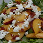 Peach and Arugula Salad with Crispy Prosciutto