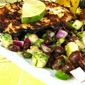 Spice-Rubbed Tilapia with Banana & Black Bean Salad