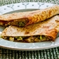 Recipe for Turkey and Guacamole Quesadilla (to make from leftover Thanksgiving turkey or chicken)