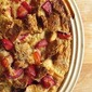 Plum bread pudding