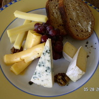 Brie, Blue and Gruyere chesse