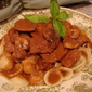 Pork Medallions In A Red Wine Cream Sauce