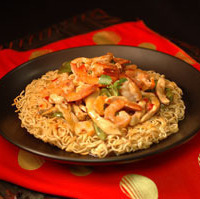 Fried Noodles With Shrimps & Chicken