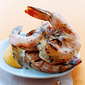 Large grilled prawns