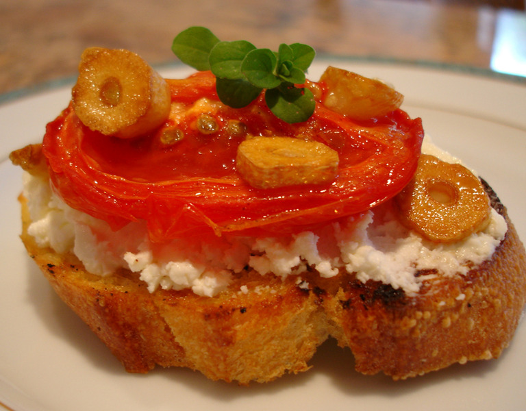 Roasted Garlic And Tomato Bruschetta Recipes — Dishmaps