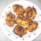 Baked onion pakora (fritters)