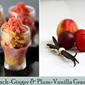 {No Bake/Frozen} PEACH-GINGER & PLUM-VANILLA GRANITA ... bidding adieu to stone fruit