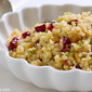 Bulgur salad with lemon and cranberries