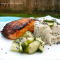 Miso Marinated Salmon with Sushi Rice and Pickled Cucumber - Cucumber Series #4