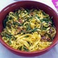 Not quite a Meatless Monday- Saffron Tagliatelle with Asparagus, Sage and Prosciutto