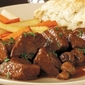 Beef Tips in Wine Sauce