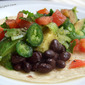 Avocado and Black Bean Soft Tacos
