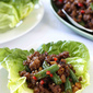 Pork & Green Bean Lettuce Wraps Recipe with Sesame Hoisin Sauce