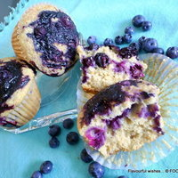BLUEBERRY ginger citrus GF MUFFINS