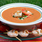 Spicy Gazpacho with Lime Shrimp