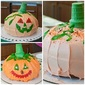 Jack-o'Lantern Cake and Mini Pumpkin Cakes