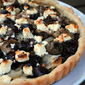 Olive and goat cheese tart