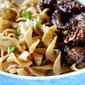 Cold Sesame Egg Noodles and Ginger Beef