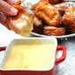 Pumpkin Fritters with Orange Creme Anglaise