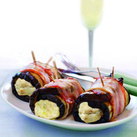 Image of Aubergine, Pancetta & Fontina Bio Rolls Recipe, Cook Eat Share