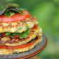 Corn Fritter Salad Stack Recipe – Celebrate Summer's End with a Meatless Monday Labor Day Feast