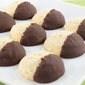 Chocolate Dipped Lime Cardamom Cookies