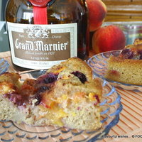 Image of Peach Berry Grand Marnier Cobbler Torte Cake Recipe, Cook Eat Share