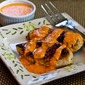 Recipe for Grilled Garlic Chicken with Roasted Red Pepper Aioli Sauce