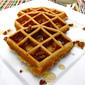 Multigrain Waffles with Candied Pecans