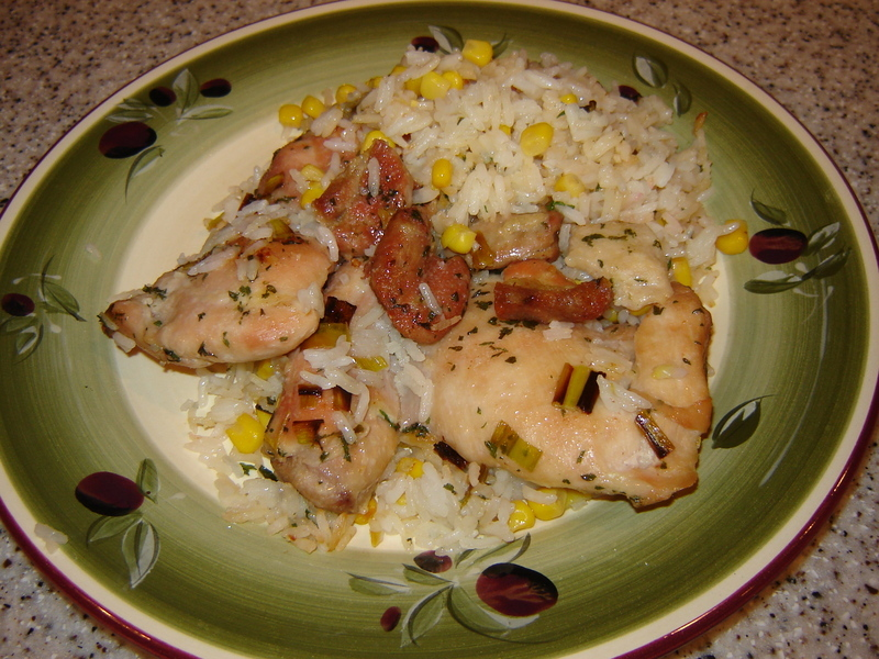 Roasted Chicken Thighs & Rice Recipe by Nanette - CookEatShare