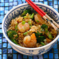 Long grain white rice (Recipe: shrimp, broccoli and scallion fried rice)