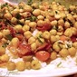 Grilled Chickpeas with Bacon and Rice