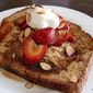 Grown-up French Toast with Strawberries in a Honey Balsamic Reduction