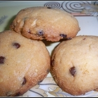 Image of Almond & Chocolate Chips Jumbles Recipe, Cook Eat Share