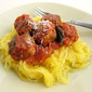 Chicken Meatballs with Spaghetti Squash