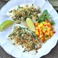 Coriander And Lime-Crusted Tilapia Fish With Mango Salsa