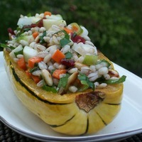 Stuffed Delicata Squash With Barley Salad