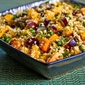 Whole Wheat Couscous Salad Recipe with Persimmon, Grapes, Green Onion, Mint, and Pine Nuts