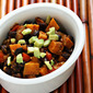 Canned black beans (Recipe: vegan black bean and sweet potato stew)