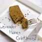 Sweet & Spicy Lavender Honey Quickbread for the International Incident Lavender Party