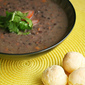 Viva Brazil - Brazilian Black Bean Soup and Pao de Queijo