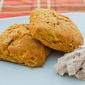 Pumpkin Biscuits with Cinnamon Honey Butter