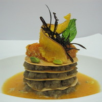 Image of Crisp Pastry Filled With Pumpkin, Eggplant, Swordfish And Mint Recipe, Cook Eat Share