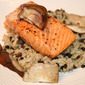Salmon with Red Wine & Shiitake Mushrooms